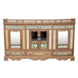 Image of Rare 19th Century British Colonial Tile Sideboard For Sale