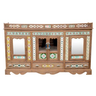 Rare 19th Century British Colonial Tile Sideboard