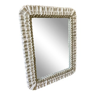 Syroco Ruffle Vanity Table Mirror For Sale
