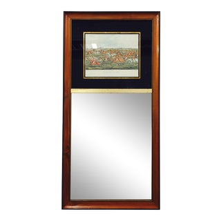Antique Mirror With Fox Hunting Scene For Sale