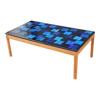 Mid-Century Modern Enamel Top Coffee Table, Per Törneman for Nk Stockholm, 1968 For Sale