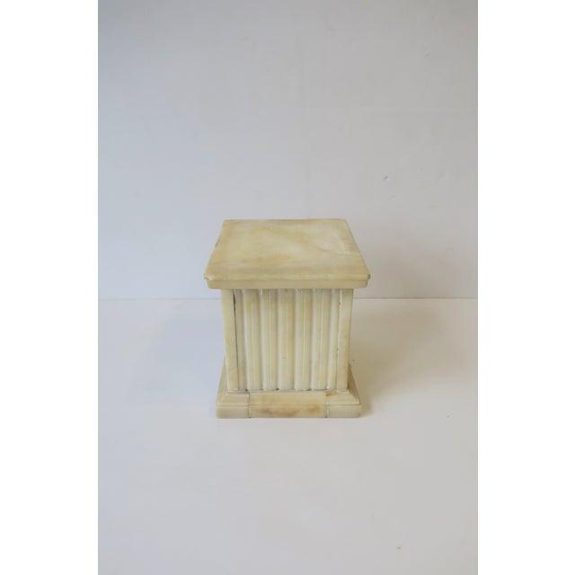 Italian Alabaster Marble Column Pedestal For Sale - Image 10 of 13