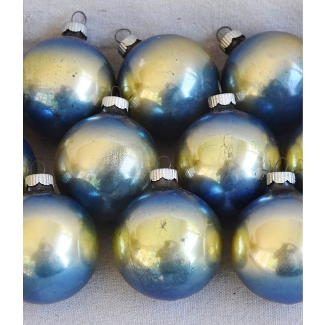 Cardboard Ombre Vintage Colorful Christmas Tree Ornaments W/Box - Set of 12 For Sale - Image 7 of 10