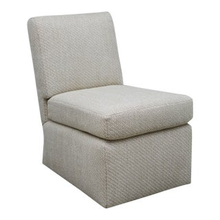 Modern Woven Fabric Custom Made Slipper Chair For Sale