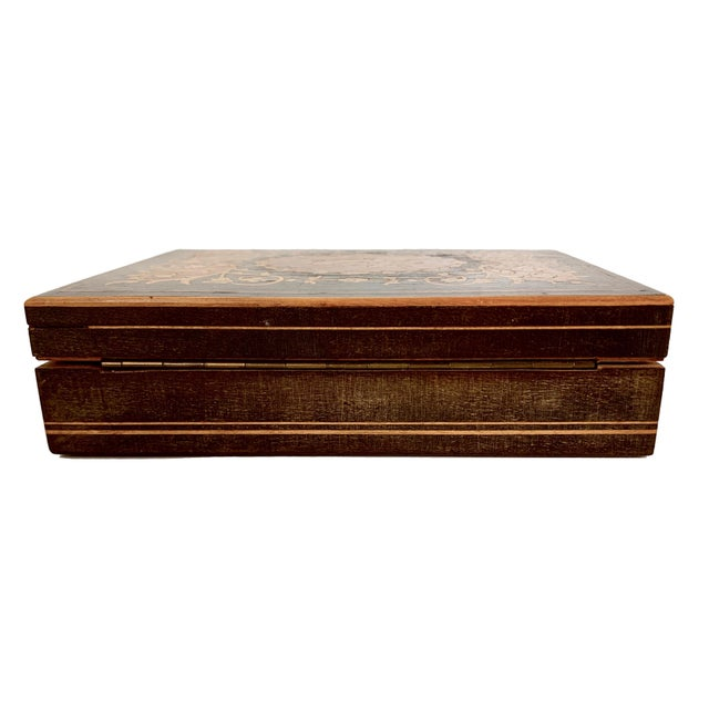 19th Century French Inlay Wooden Box For Sale In Miami - Image 6 of 13