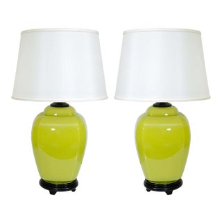 Glass Lamps - A Pair For Sale