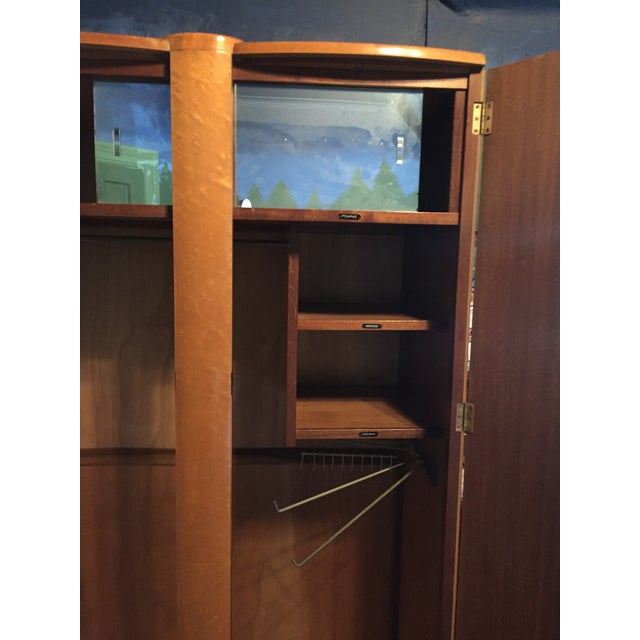 Birds Eye Maple Art Deco Wardrobes - a Pair For Sale - Image 9 of 13