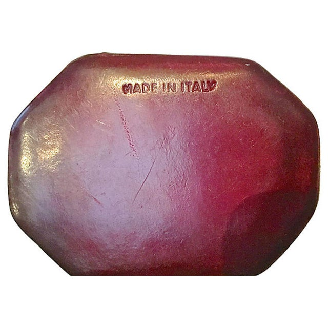 Early 20th Century Early 20th Century Vintage Florentine Leather Snuff Boxes - a Pair For Sale - Image 5 of 6