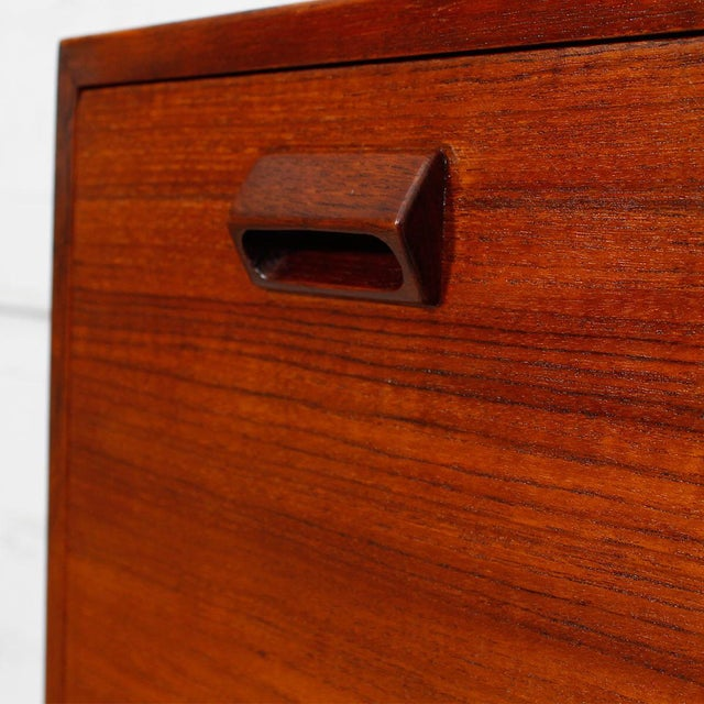 Danish Modern Teak Drop Front Secretary / Desk - Image 6 of 7