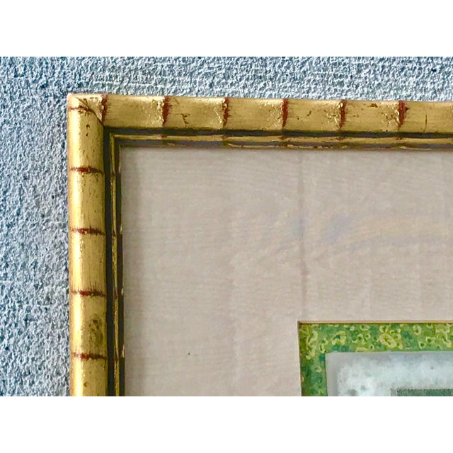 """Green 1980s """"Embassy of China 1796"""" Framed Reproduction Print For Sale - Image 8 of 12"""