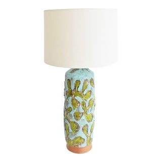 Large Fat Lava Texture Ceramic Lamp