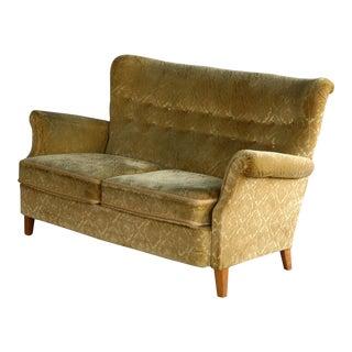 Midcentury DUX Scandinavian Two-Seat Sofa For Sale