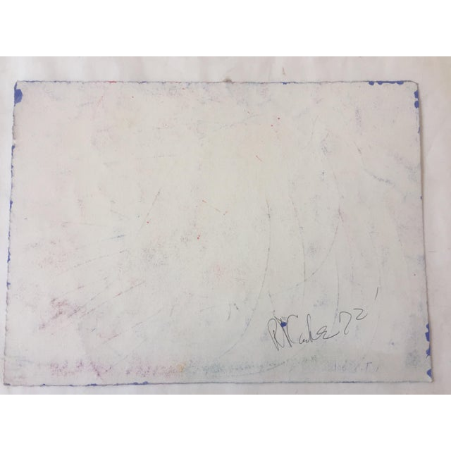 Abstract Original Vintage Robert Cooke Chicken Painting For Sale - Image 3 of 4