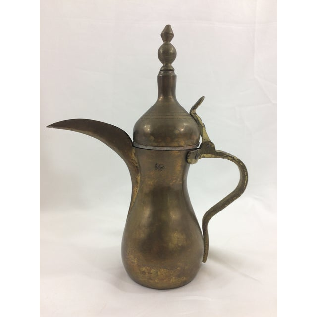 Moroccan Brass Tea Pot For Sale - Image 5 of 5