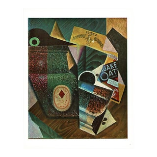 "1940s Juan Gris ""The Package of Quaker Oats"" Lithograph From Geneva For Sale"