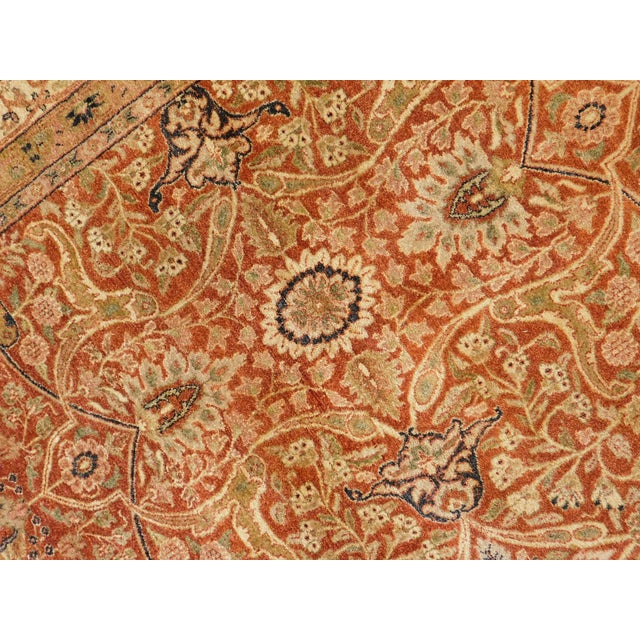 Red Handmade Indian Rug - 8' x 10' For Sale - Image 8 of 10