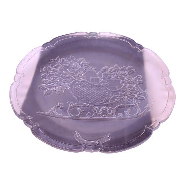 Mikasa Crystal Santa's Sleigh Hostess Platter For Sale