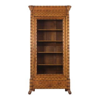 French One Door Bamboo Bookcase 19th Century For Sale