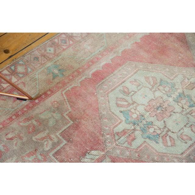 "Textile Vintage Distressed Oushak Rug Runner - 4'3"" X 8'4"" For Sale - Image 7 of 13"