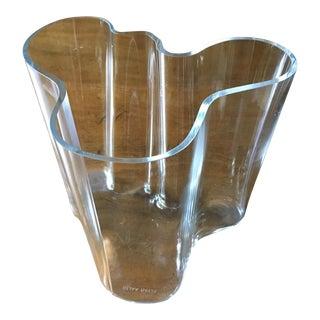 Alvar Aaldo Modern Sculpture Glass Vase For Sale