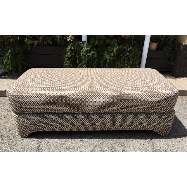 Petite Patterned Bench For Sale - Image 5 of 5