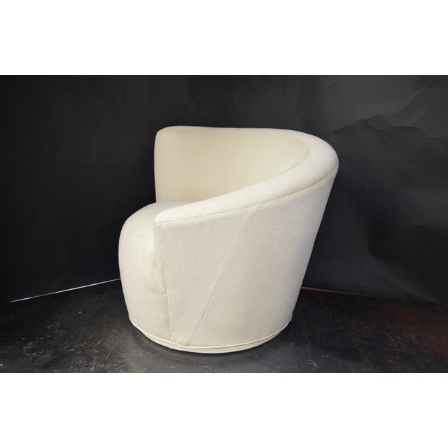 White Vladimir Kagan Swivel Chairs - a Pair For Sale - Image 8 of 11