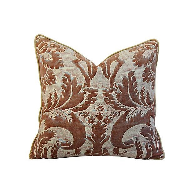 "24"" X 22"" Custom Tailored Italian Mariano Fortuny Glicine Feather/Down Pillow For Sale In Los Angeles - Image 6 of 9"