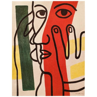 1948 Fernand Léger Original Period Lithographic Portrait of Paul Eluard For Sale