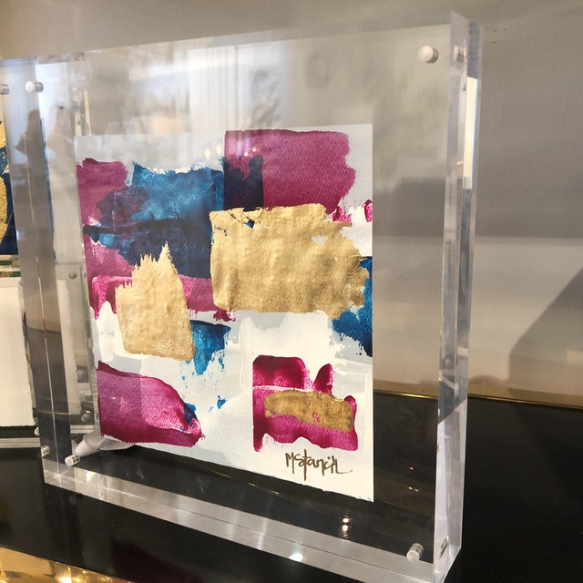 Original Art Floating in Lucite For Sale - Image 9 of 11