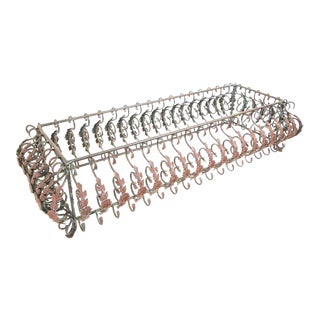 Art Nouveau French Wrought Iron Coffee Table Base For Sale