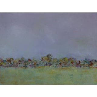 """Abstract Seascape Oil Painting on Canvas, """" Sea Wall """" by Bill Tansey For Sale"""
