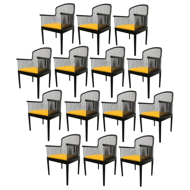 """Set of 14 Yellow Davis Allen """"Andover"""" Chairs for Stendig For Sale"""