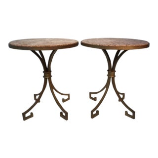 1940s Regency Arturo Pani, Key Side Tables - a Pair For Sale