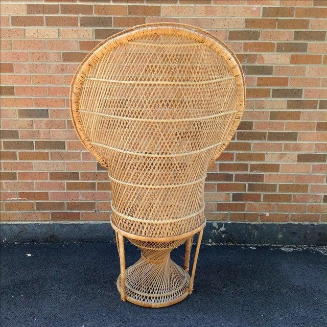 Vintage Rattan Peacock Chair - Image 4 of 9