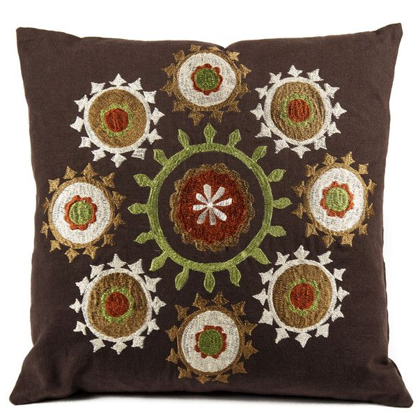 Suzani Brown Pillow - Image 1 of 3