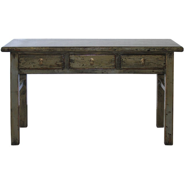Gray Console Table - Image 1 of 6
