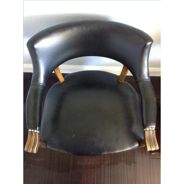 Mid-Century Style Black Armchairs - A Pair - Image 6 of 11