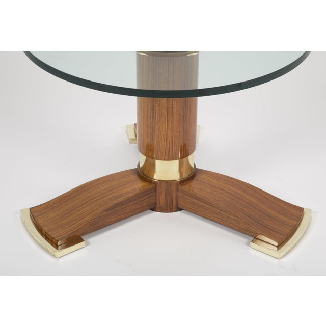 Jules Leleu Mahogany, Bronze and Glass Coffee Table For Sale In New York - Image 6 of 13