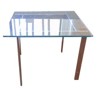 Milo Baughman Glass & Chrome Side Tables - A Pair For Sale