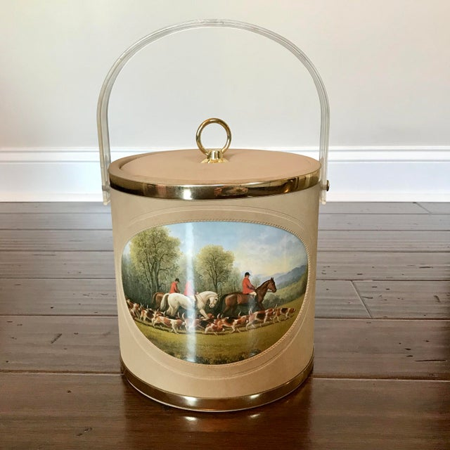 Mid 20th Century Vintage Mid-Century Equestrian Ice Bucket For Sale - Image 5 of 5
