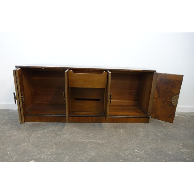 Metal 1940s Vintage Art Deco Credenza by RomWeber For Sale - Image 7 of 13