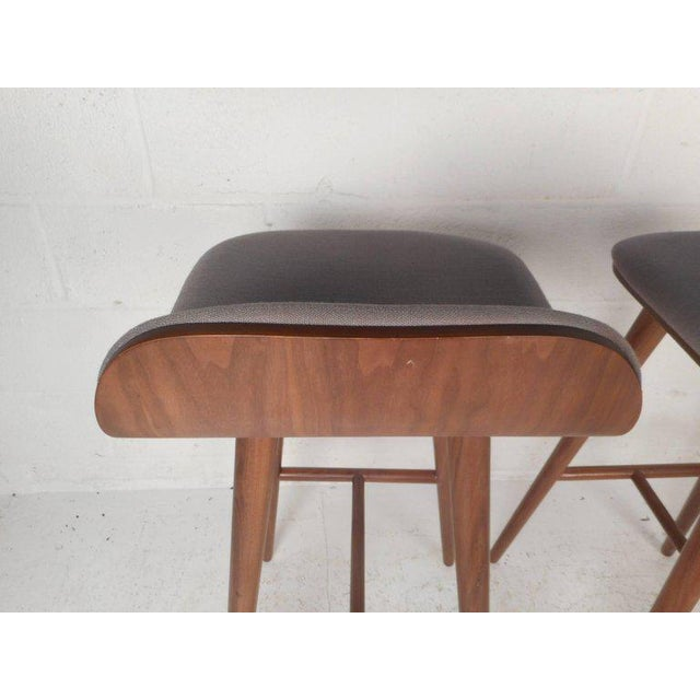 Fabric Contemporary Modern Bar Stools - A Pair For Sale - Image 7 of 8