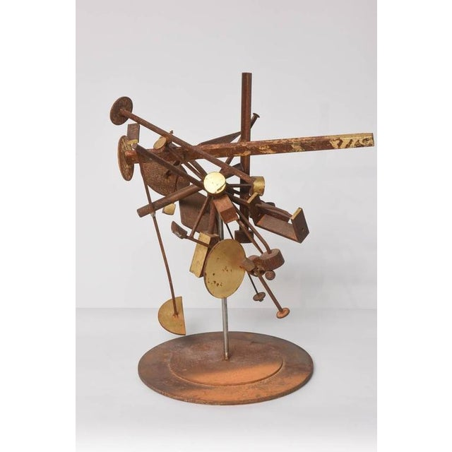 Gold Kinetic Dimensional Works, Abstract Expressionism Sculpture For Sale - Image 8 of 11