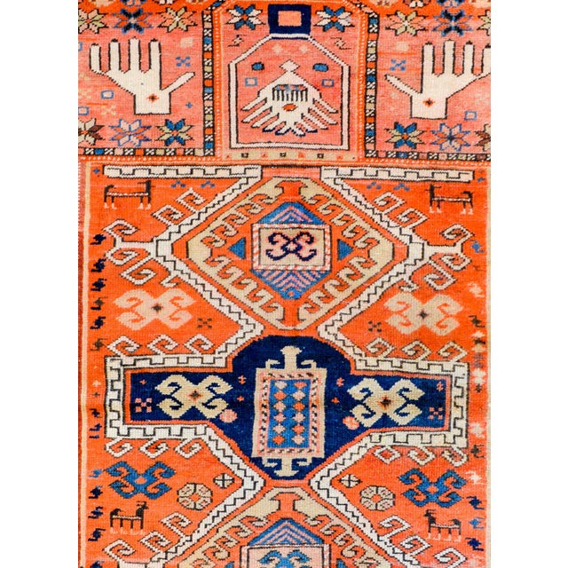 Wonderful Early 20th Century Kazak Prayer Rug For Sale In Chicago - Image 6 of 10