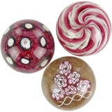 Image of Fratelli Toso Murano Italian Art Glass Paperweights-Set of 3 For Sale