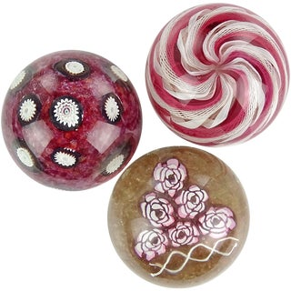 Fratelli Toso Murano Italian Art Glass Paperweights-Set of 3 For Sale