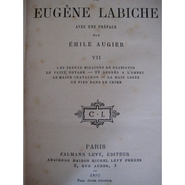 Late 19th Century French Leather Books - Set of 10 For Sale - Image 10 of 12
