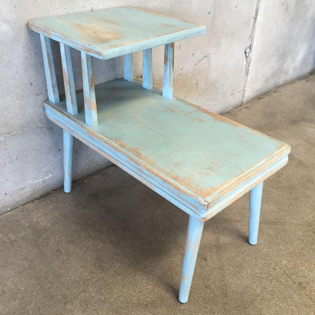 Upcycled Mid Century Side Table - Image 4 of 7