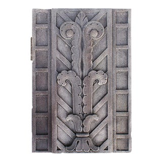 Early 20th Century Art Deco Style Carved Limestone Exterior Building Panels For Sale
