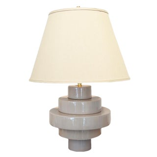 Customizable Porcelain Disc Table Lamp For Sale